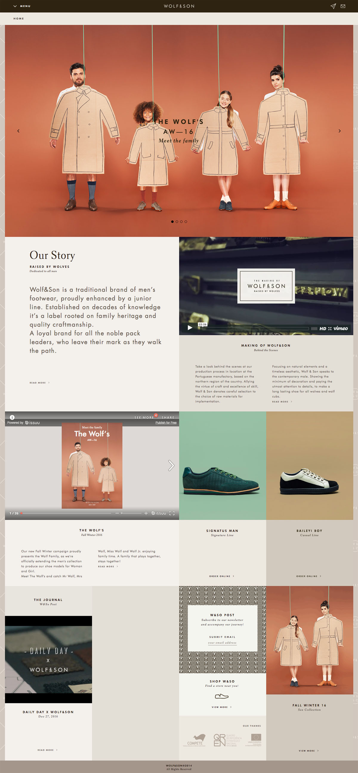 eCommerce website: Wolf & Son