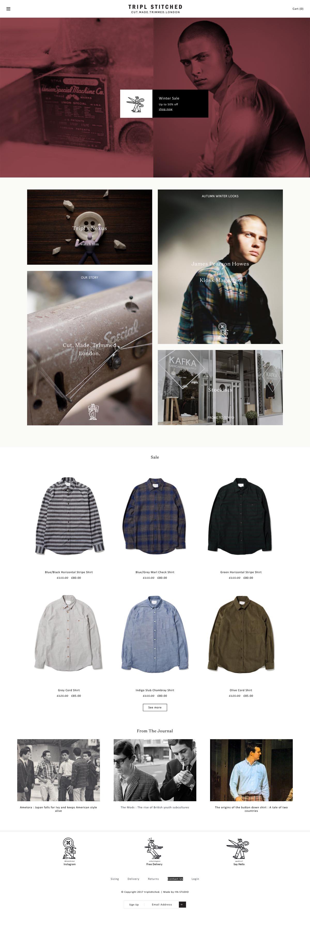 eCommerce website: Triplstitched
