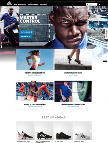 eCommerce website: Adidas UK