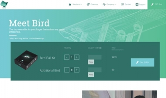 eCommerce website: BIRD by MUV Interactive
