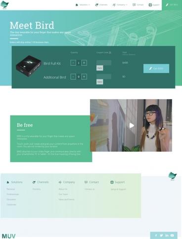 eCommerce website: BIRD by MUV Interactive