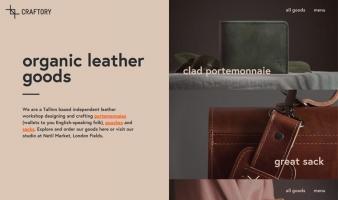eCommerce website: Craftory