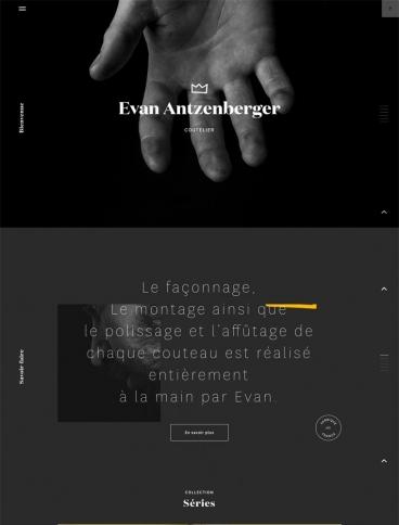 eCommerce website: Evan Antzenberger
