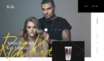 eCommerce website: IGK