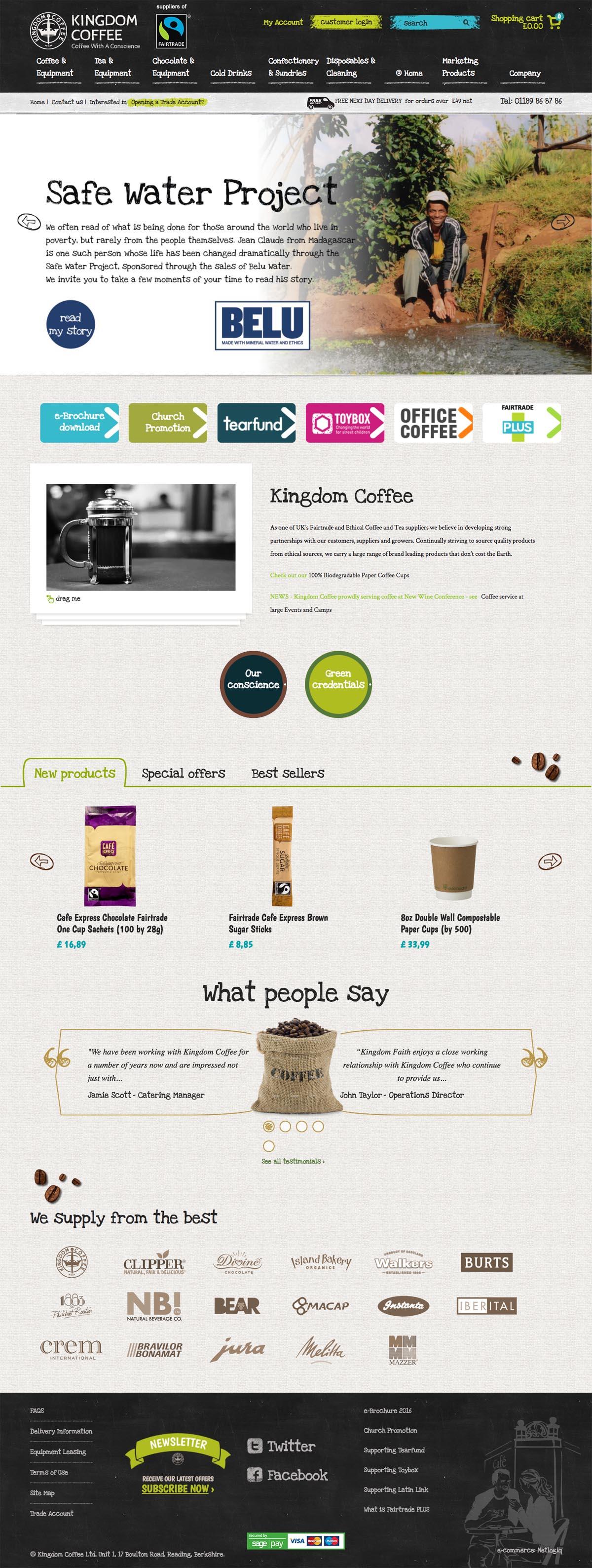 eCommerce website: Kingdom Coffee Ltd