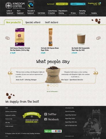 eCommerce website: Kingdom Coffee Ltd