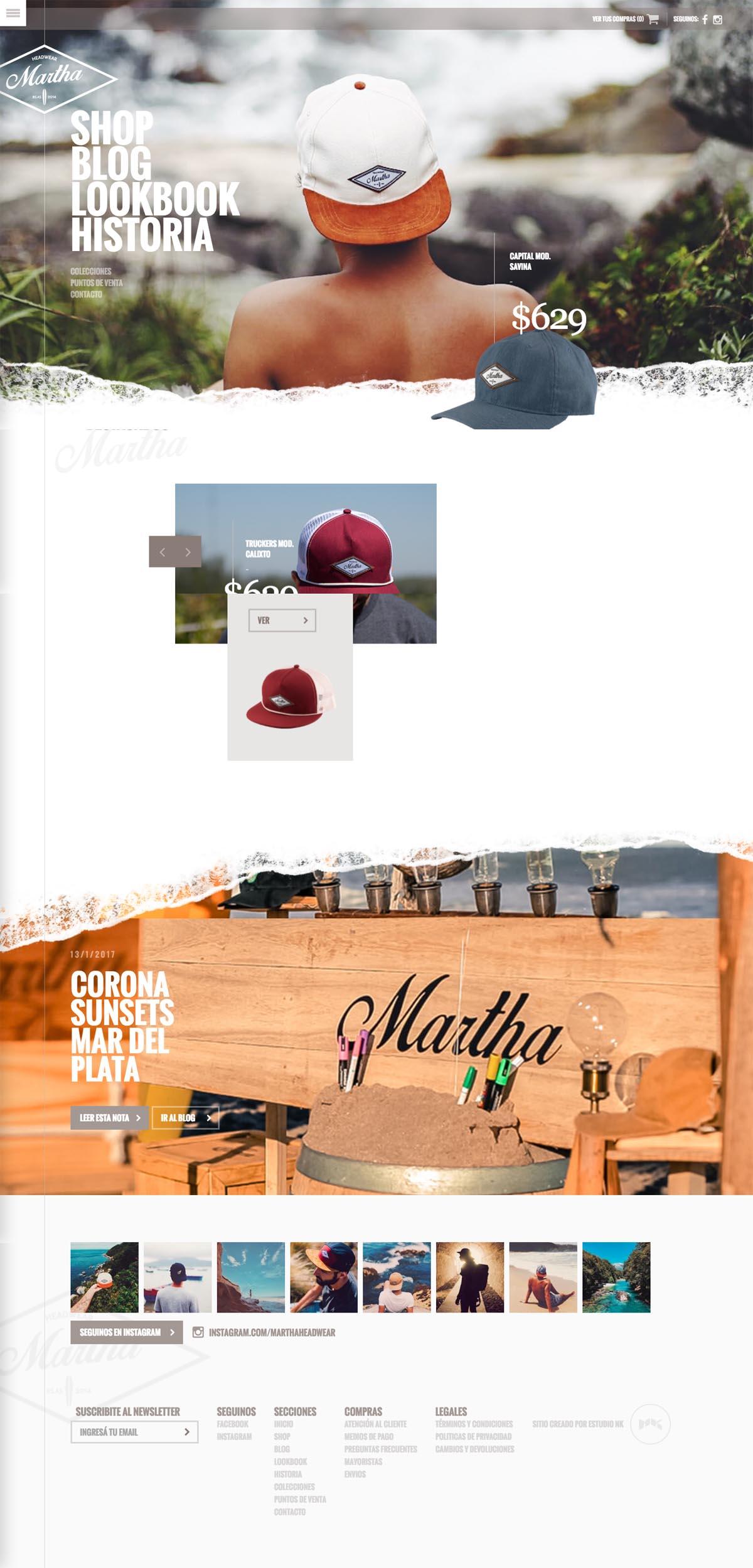 eCommerce website: Martha Headwear