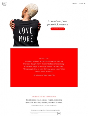 eCommerce website: More by Bourn