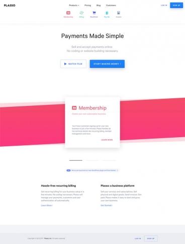 eCommerce website: Plasso