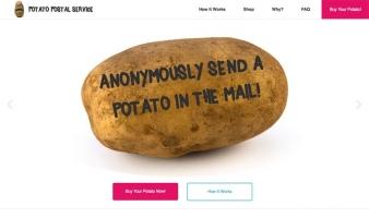 eCommerce website: Potato Postal