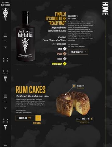 eCommerce website: Really Bad Rum