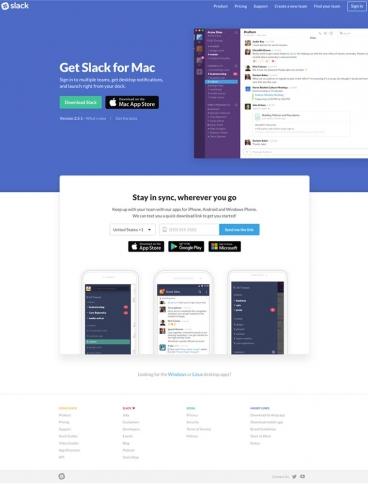 eCommerce website: Slack