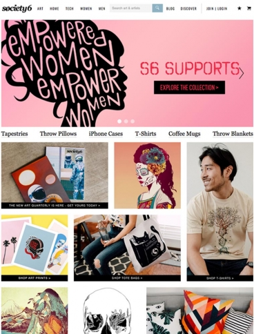 eCommerce website: Society6