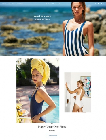 eCommerce website: Solid & Striped