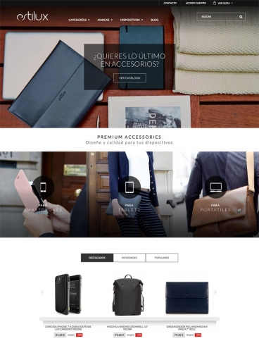 eCommerce website: estilux