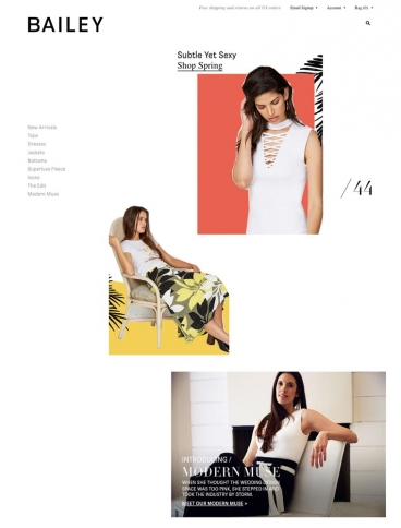 eCommerce website: Bailey44