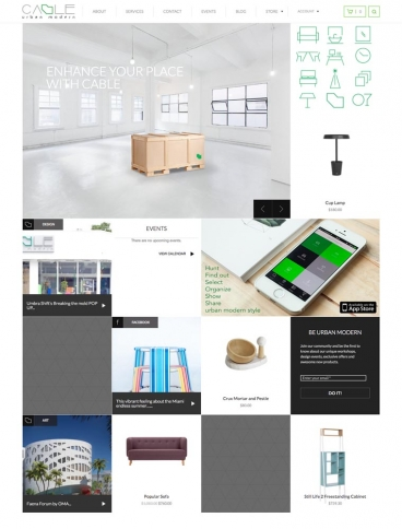 eCommerce website: CABLE Urban Modern