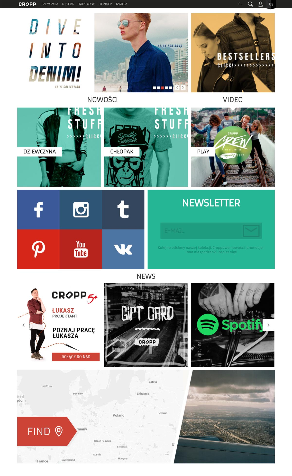 eCommerce website: Cropp