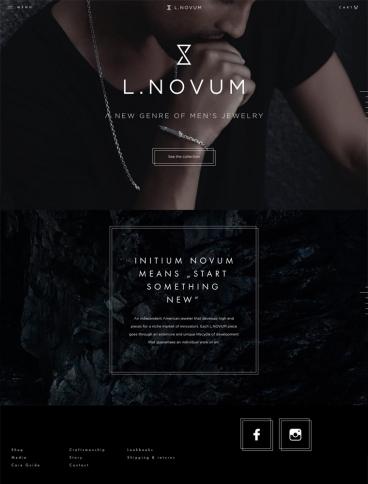 eCommerce website: L.Novum