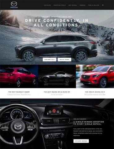 eCommerce website: Mazda USA