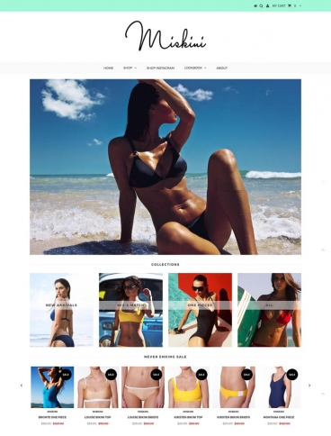 eCommerce website: Miskini