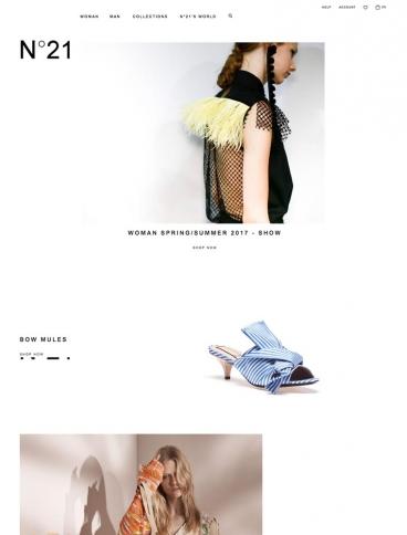 eCommerce website: N21