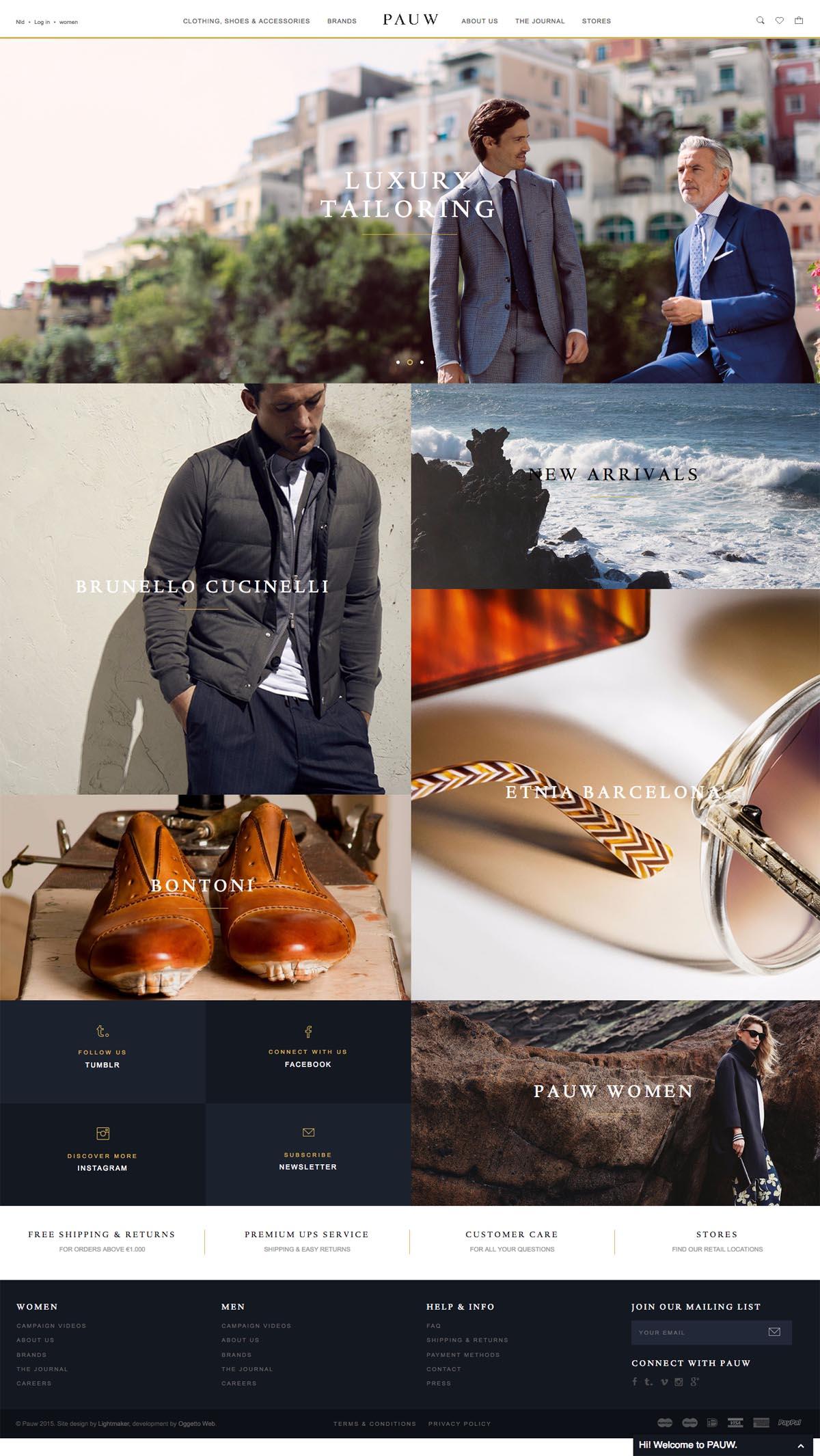 eCommerce website: PAUW