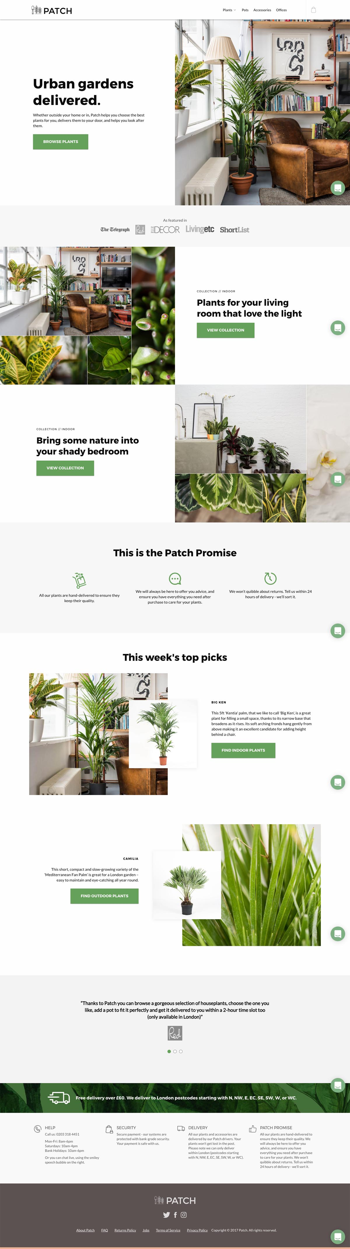 eCommerce website: Patch