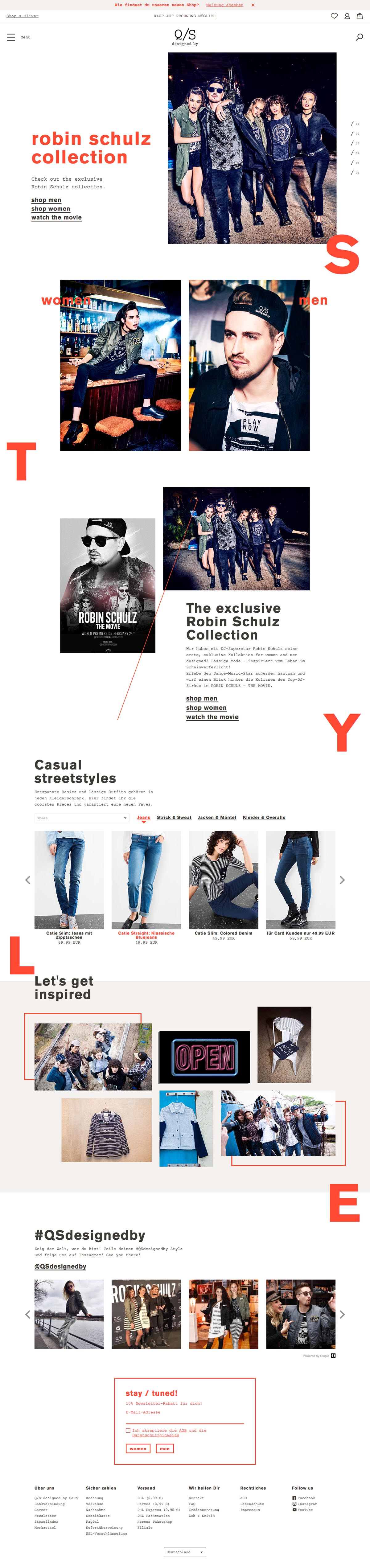 eCommerce website: Q/S designed by