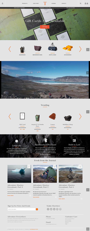 eCommerce website: TRAKKE