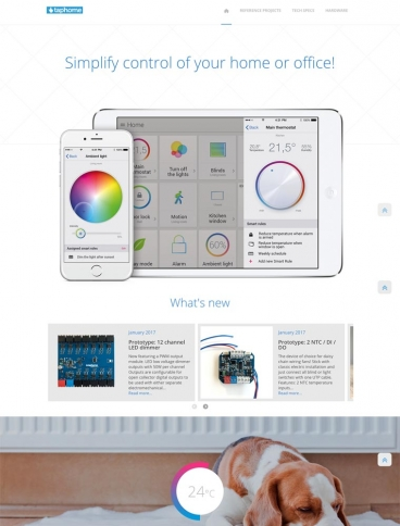 eCommerce website: TapHome