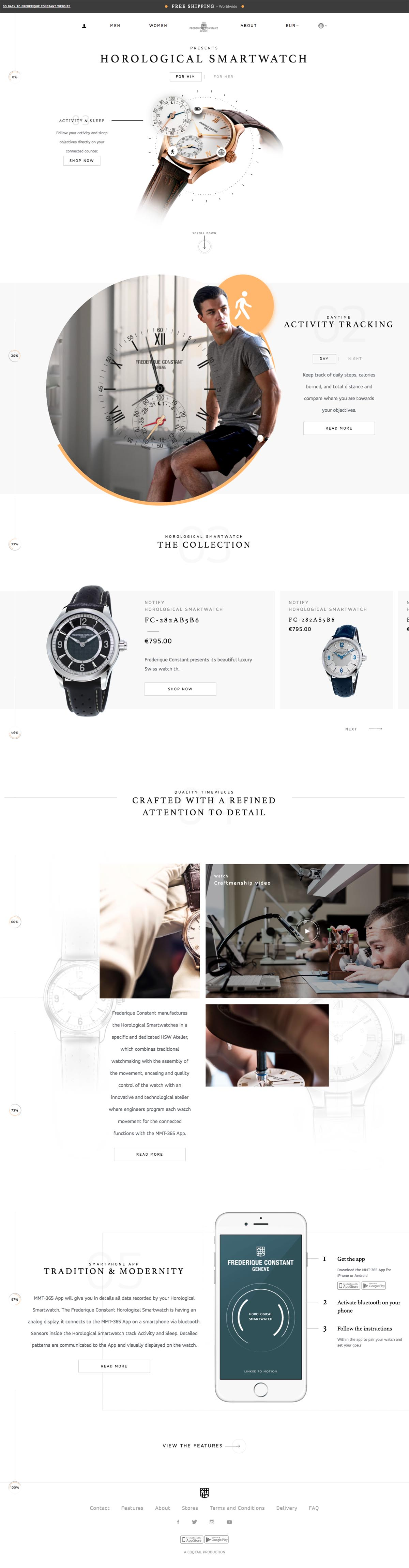 eCommerce website: The Horological Smartwatch