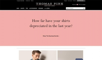 eCommerce website: Thomas Pink