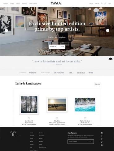 eCommerce website: Twyla
