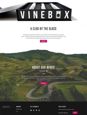 eCommerce website: VINEBOX