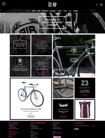 eCommerce website: Brick Lane Bikes