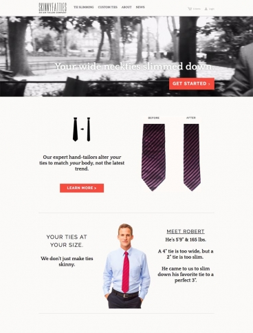 eCommerce website: Air Tailor