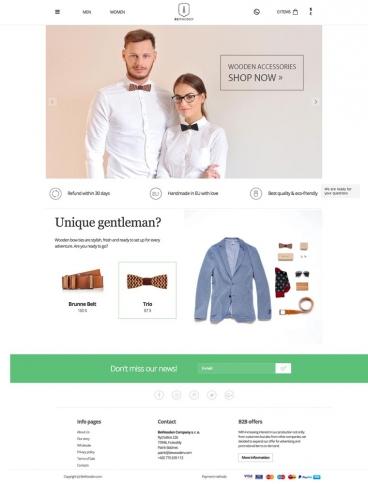 eCommerce website: BeWooden