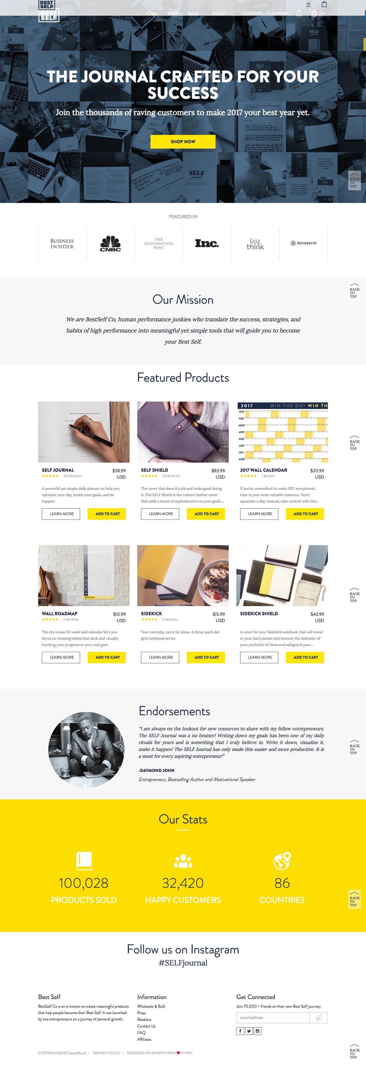 eCommerce website: BestSelf Co
