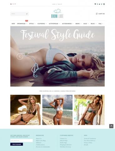 eCommerce website: Bikini Luxe