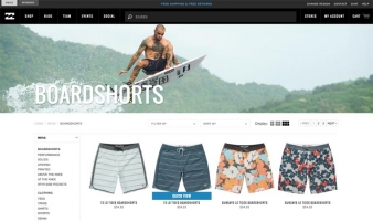 eCommerce website: Billabong