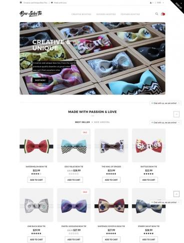 eCommerce website: Bow SelecTie