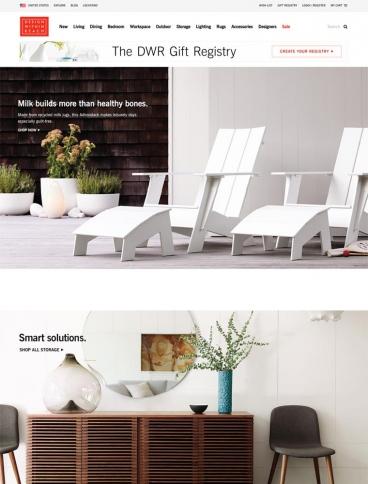 eCommerce website: Design Within Reach