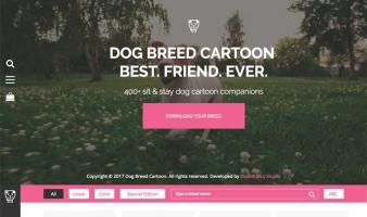 eCommerce website: Dog Breed Cartoon