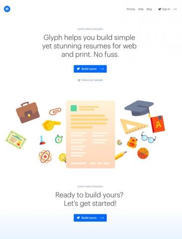 eCommerce website: Glyph