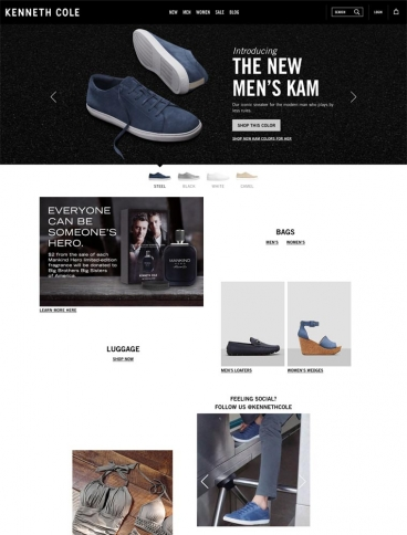 eCommerce website: Kenneth Cole