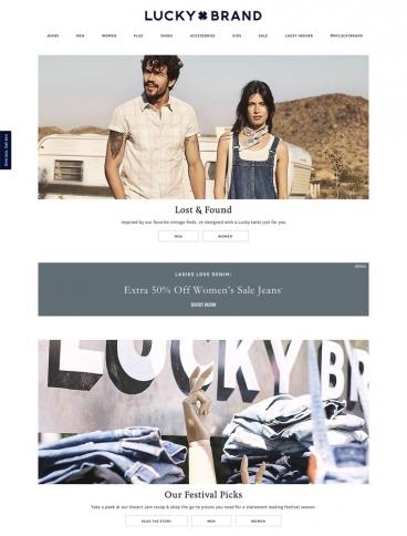 eCommerce website: Lucky Brand