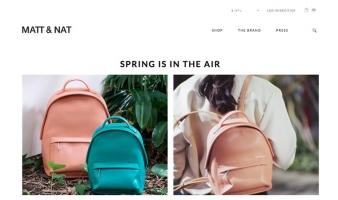 eCommerce website: MATT & NAT