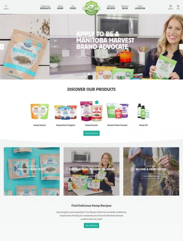 eCommerce website: Manitoba Harvest