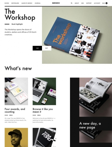 eCommerce website: Mendo